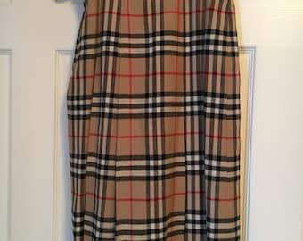BURBERRY Vintage Wool Plaid skirt Size S
