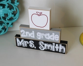 Teacher Gift- Teacher Stackers, Personalized Teacher gift, Teacher Appreciation, Teacher Gifts, Classroom Gift, Classroom Decor