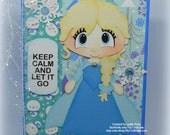 Frozen Elsa Handmade Paper Piecing 3D Greeting Card
