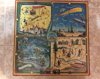 Vintage Disneyland game board