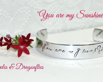 YOU ARE MY Sunshine | Personalized Gift | Girlfriend Gift | Hand Stamped | Secret Message Bracelet | Daughter Gifts | Birthday Gifts