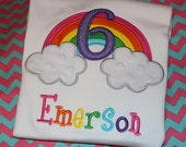 Rainbow birthday shirt or dress - baby bodysuit, tshirt, or dress- any number