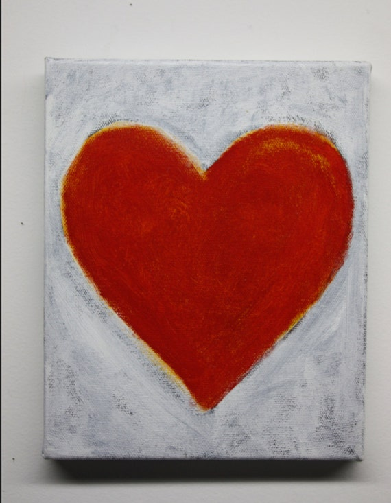 Original Love Power Heart Painting by Feng Shui Visionary Artist Katy Allgeyer