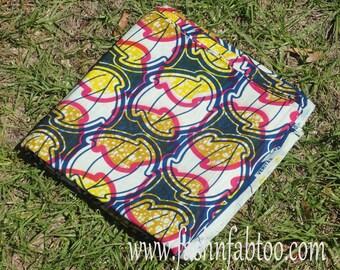 African Wax Cotton Print Fabric - Ankara Fabric - Hurricane