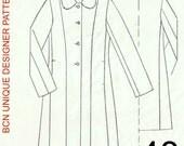 CASSOCK coat pattern. SIZE 48