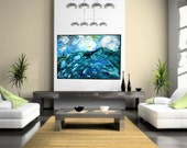 Large Seascape Painting, 30X40 Original Art, Large Abstract Painting, Acrylic on Canvas, Home Decor, Wall Art, Adventure