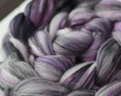 "Superfine Merino Yak Silk Custom Blended Top - ""Regal"" 4 oz"