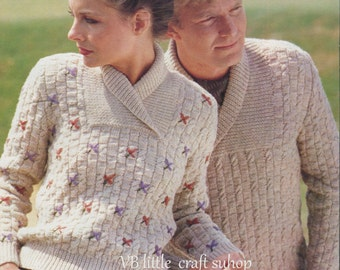 His and her sweater knitting pattern. Instant PDF download!