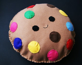 Kawaii Multi Colour Cookie Soft Toy/Cushion/Pillow/Plush Chocolate Happy Cute Biscuit Decoration Kids Room Large