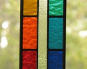 Rainbow Colors Stained Glass Suncatcher