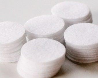 All White - 0.75 inch Circles - Die Cut Felt Circles