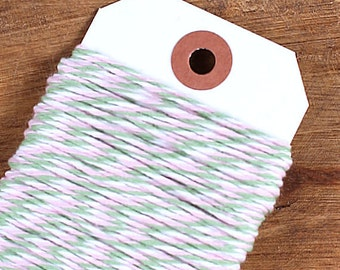 Spring Blossom Bakers Twine, Mint Green Bakers Twine, Light Pink Bakers Twine, Cotton Twine, Baker's Twine, Bakers String (15 yds)