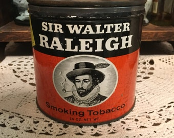 PRICE REDUCED* Sir Walter Raleigh Smoking Tobacco Tin