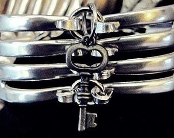 Fork Bracelet  charm bracelet Antique bracelet  Key Bracelet