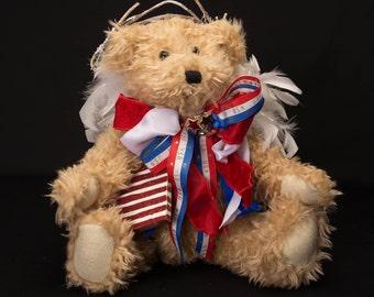 Hand Decorated Tan Bear-Item 2075