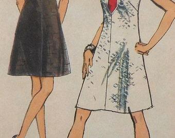 Vintage Dress Sewing Pattern Simplicity 8734 Size 10