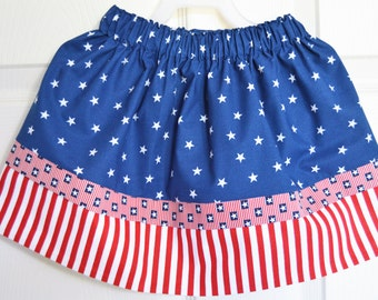 Red, White and Blue Partiotic Skirt