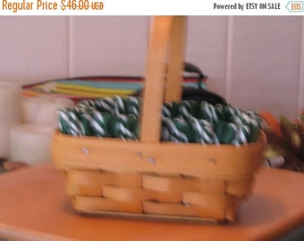 Cute little Parsley Longaberger Basket--3 pc set--HARD FIND--Vintage -- 20-70% off Listings throughout our Shop