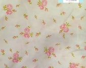 Twin Vintage Fitted Sheet with Small Pink Flowers
