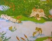 Heather Ross Briar Rose for Windham Fabrics - Frog Pond Blue - 1/2 yard cotton quilt fabric Pattern #37022