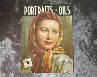 Portraits in Oils by Stella Mackie Published by Walter T. Foster - 1950s How To Book - How to Paint in Oils