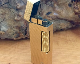 Vintage 1940's DunHill Gold Lighter Swiss Made
