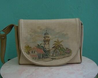 vintage 70's original key west light house handbag