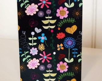 Folksy Florals greetings card