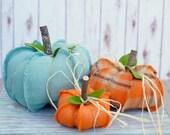 Fabric pumpkins, white pumpkins, Burlap pumpkin,fall decor, primitive pumpkin, home decor, farmhouse decor, handmade pumpkins, porch decor