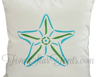 Stylistic Starfish Star Fish Machine Embroidery Designs