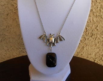 Black Onyx Bat Necklace