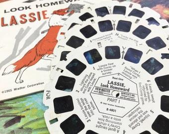 Vintage 1960s Toy Collectible / View Master Lassie Look Homeward 3 Reel Set 1965