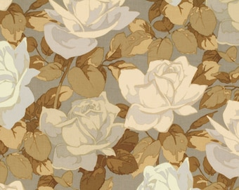 Martha Negley Rose Garden Toss Natural Floral Roses Cotton Quilting Flower Fabric