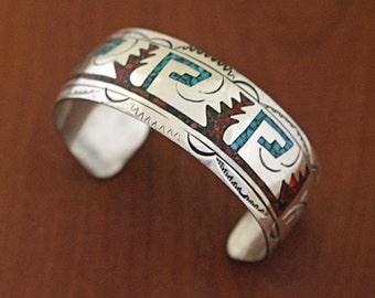 Vintage Navajo SIlver Bracelet Henry Baca