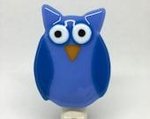 Hoot hoot owl night light - dark periwinkle