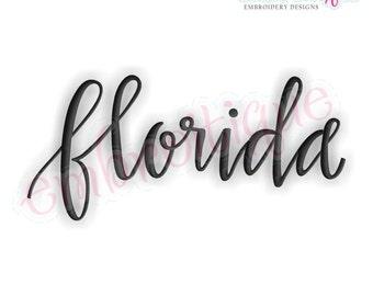 Florida Script 2  - Instant Download Machine embroidery design