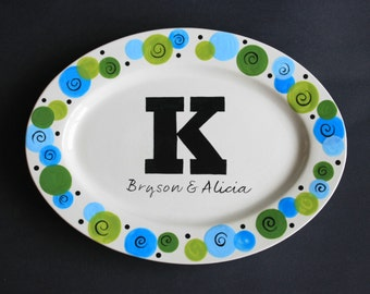 Hand Painted Personalized Platter