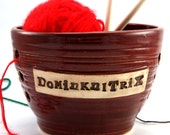 Dominknitrix - A Yarn Bowl for Chicks with Sticks - SALE - Ready to Ship