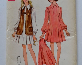 BUTTERICK 5563 Junior & Misses One Piece Dress and Jacket Sewing Pattern Size 9 UNCUT