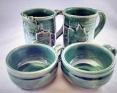 Choose a Color Pottery Soup Mug, Pottery Soup Bowl, Handled Soup Mug, Soup Mug, Soup Crock, Oversized Mug, Made to Order