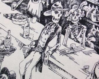 Deadwood Saloon Tea Skeleton Days of Dead Western Alexander Henry Fabric Yard