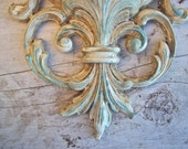 Syroco Wall Sconce Cottage Style Shabby Chic Wall Pocket Vintage Dart Made in USA