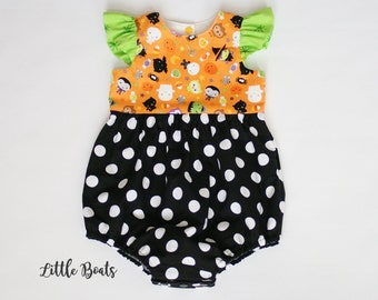 Trick or Treat Bubble Romper / Size 3m - 3T
