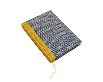 Large A5 Day Planner quatrefoil blue yellow