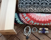 FREE SHIPPING Meditation Package- Jumbo Cushion or Meditation Bench, Mandala Meditation Rug, Mala Necklace,Bracelet, Sage,Palo Santo Bundles