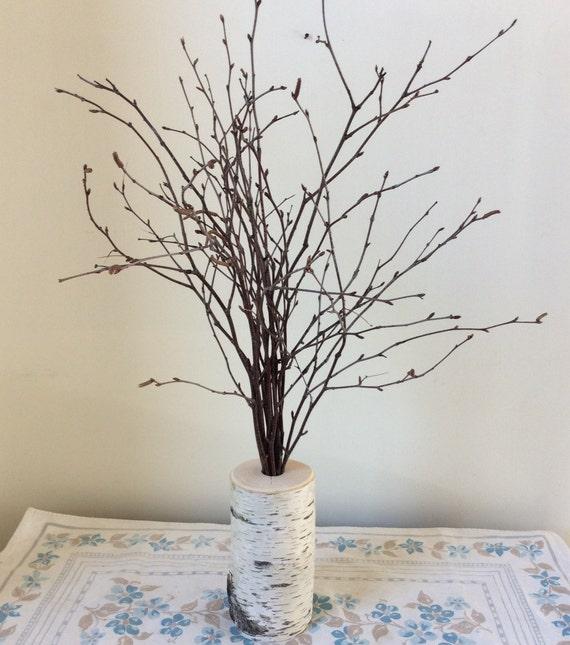 tall birch branch centerpiece holiday wedding mantle decor tree