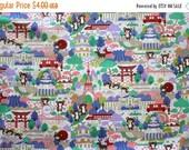 SuperBowl Sale Japanese Anime Tokyo Bears in Lavender 1/2 yard