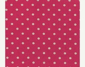 SuperBowl Sale Mochi Linen Dots by Momo for Moda Fabrics, Dots in Magenta 1/2 yard total