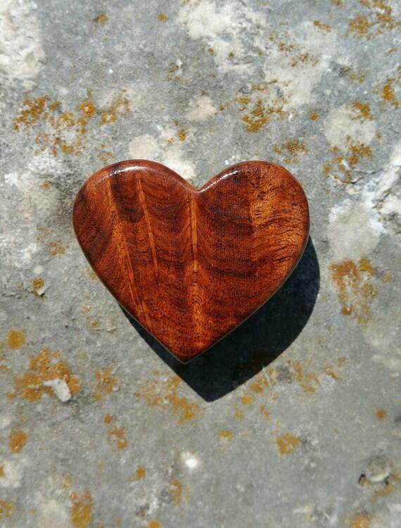 Rustic Burl Wood Bedroom Furniture: Rustic Texas Honey Mesquite Burl Wood Heart Magnet OOAK Cut