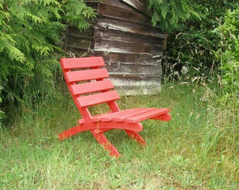 Brightly Colored Cedar Chair for Home - Garden - Cabin - Beach - Patio - Deck - outdoor furniture handcrafted by Laughing Creek